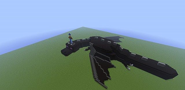 How to build a minecraft dragon statue