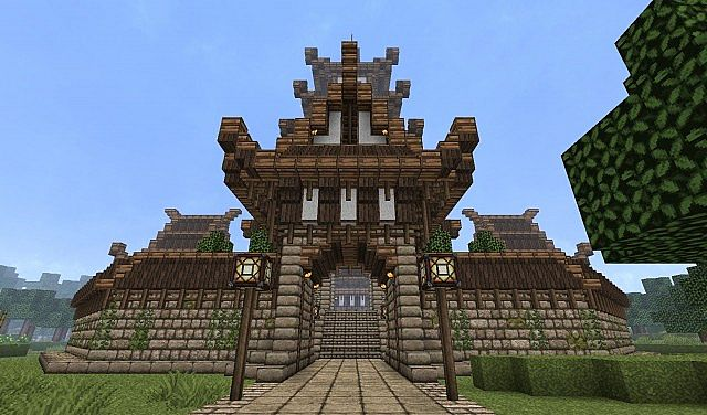 one of the four gates - Minecraft Japanese Pagoda