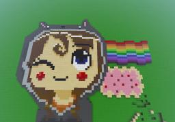 Nyancat girl :P (Pixelart) Minecraft Map & Project