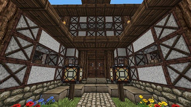 cute little medieval house minecraft project. Black Bedroom Furniture Sets. Home Design Ideas