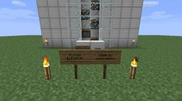 Piston Elevator Minecraft Map & Project