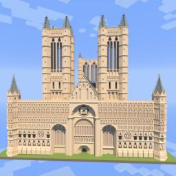 Lincoln Cathedral (Minecraft style) Minecraft Map & Project