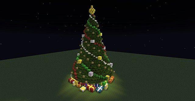 Christmas Fireplace Scene & Christmas Tree Minecraft Project