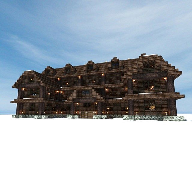 Snow Inn Pub Minecraft Project