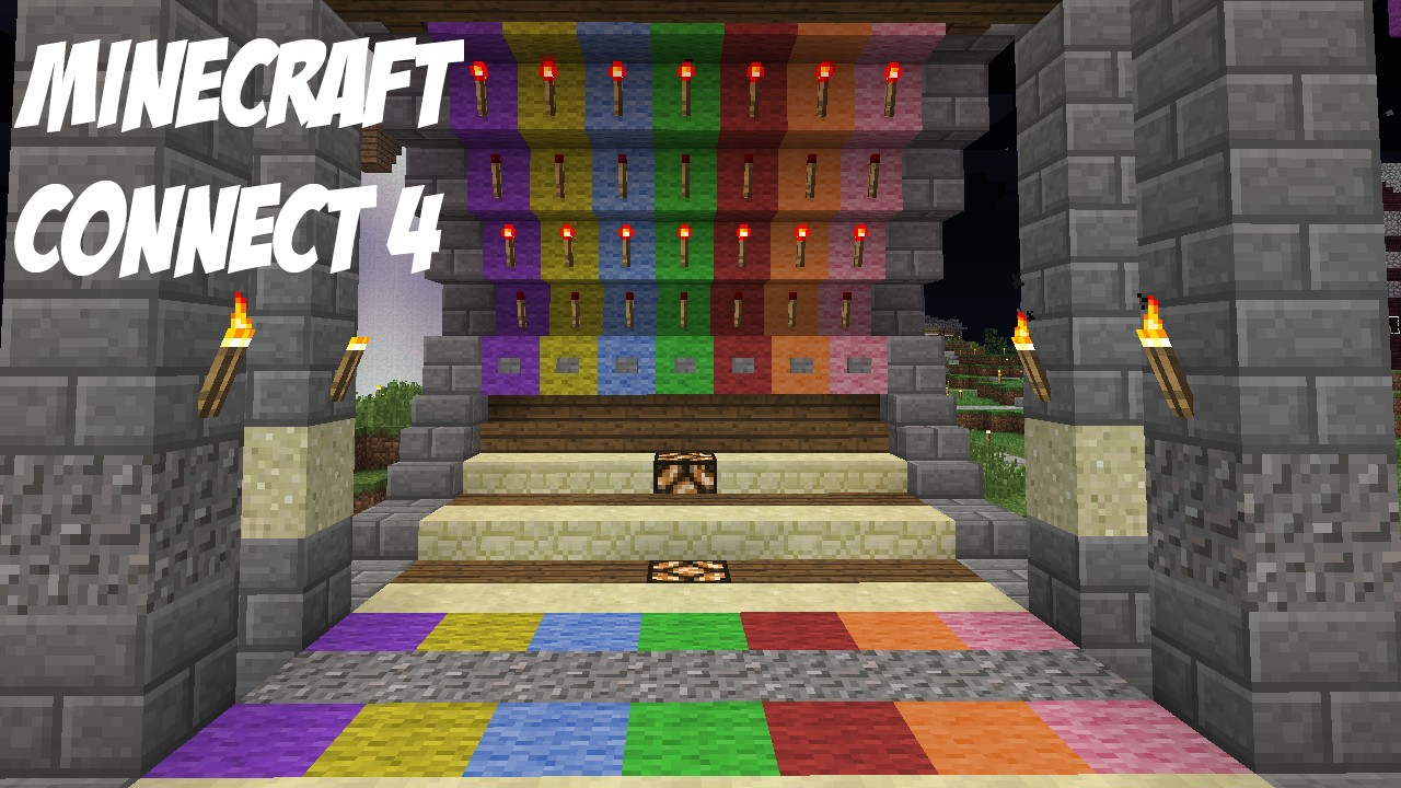 Minecraft : SMP Friendly, NEW Connect 4 Design! Minecraft Project