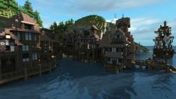 Coastal town - Asera Build-team Minecraft