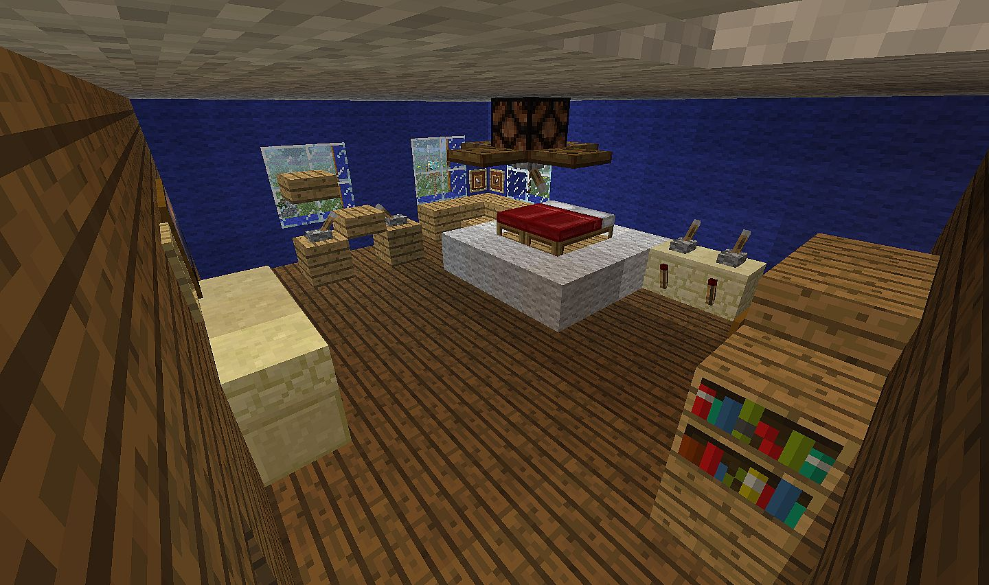 Modern home minecraft size minecraft project for Bedroom ideas on minecraft