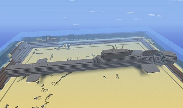 Typhoon Nuclear Submarine Minecraft Project
