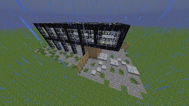 Modern Glass House Minecraft Project - 62.0KB
