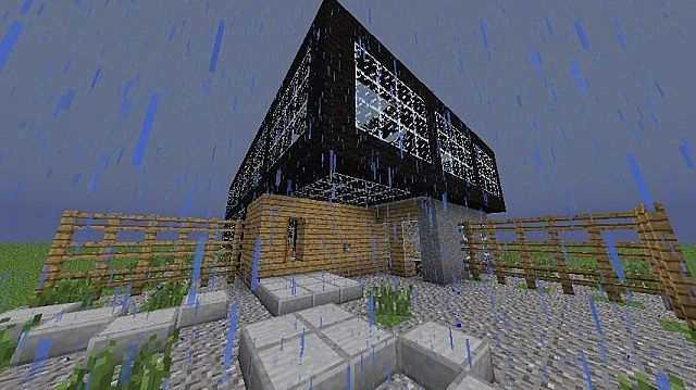 Modern Glass House Minecraft Project - 53.1KB