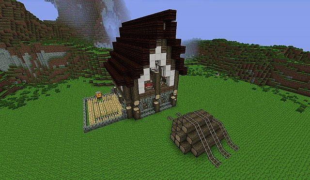 how to build a minecraft farm house