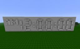 24 Hour Real Time Clock Minecraft Map & Project