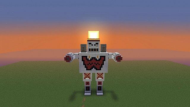 how to make a little robot in minecraft