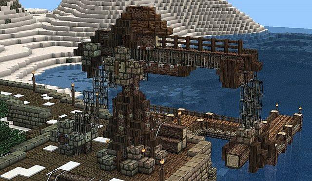 Lets Build Medieval Warehouse amp Crane Minecraft Project