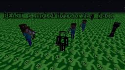 beast simple herobrine pack Minecraft Texture Pack