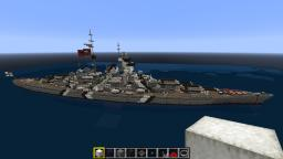1:1 scale Bismarck Minecraft Map & Project