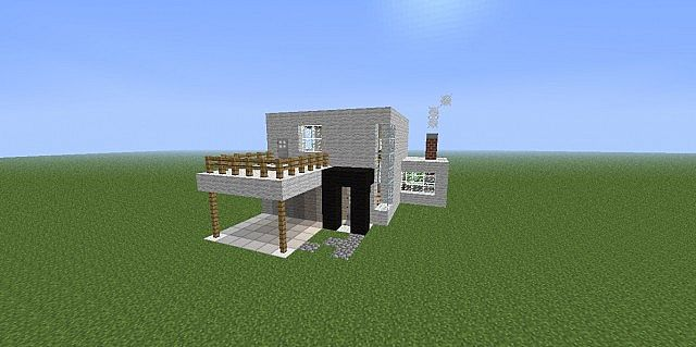 Modern house casa moderna minecraft project for Casa moderna 2 minecraft