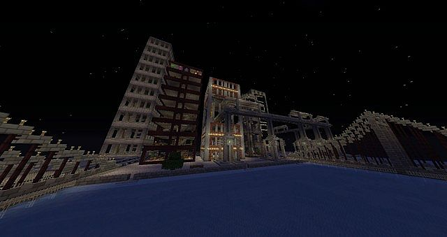 Gotham City, with Wayne Manor and the BatCave Minecraft Project