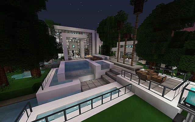 Modern Iron Point Villa Minecraft Project