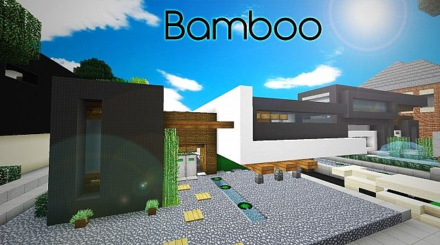 modern bamboo japanese home collab with theevilenderman minecraft project
