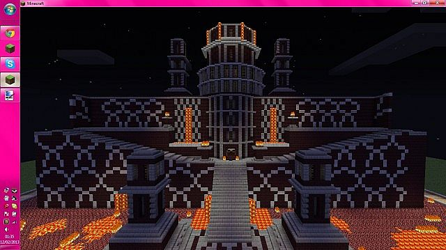 The Devils Lair Evil Fortress Minecraft Project