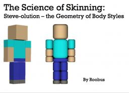 The Science of Skinning:  Steve-olution, the Geometry of Body Styles Minecraft