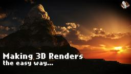 How to easily make EPIC Minecraft 3D Renders! Minecraft