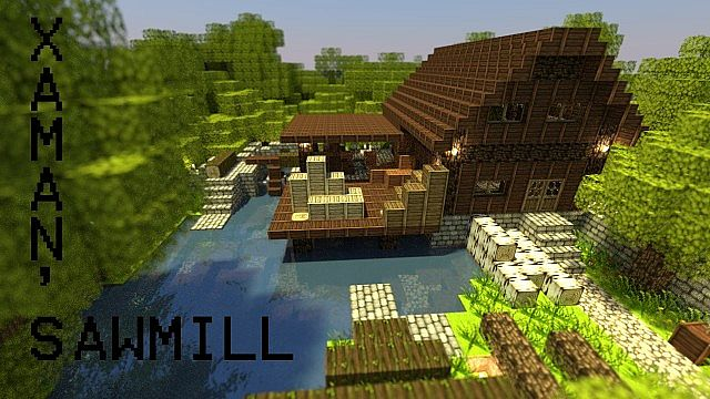 Xaman's medieval Sawmill Minecraft Project