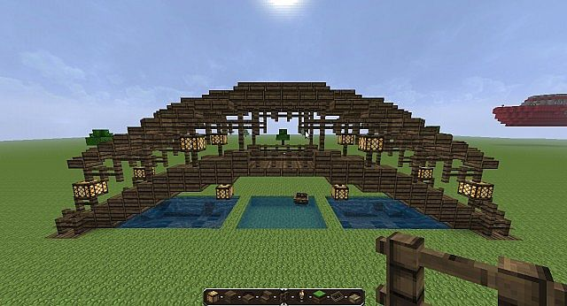 All-Wood Covered Bridge Minecraft Project