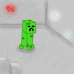 creeper drawing Minecraft