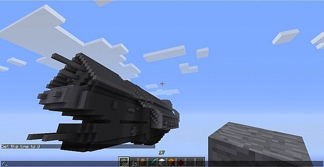 Miniature UNSC INFINITY Minecraft Project