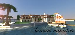 Tuscan island mansion || WITH DOWNLOAD Minecraft Map & Project