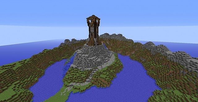 Mountain Side Tower Minecraft