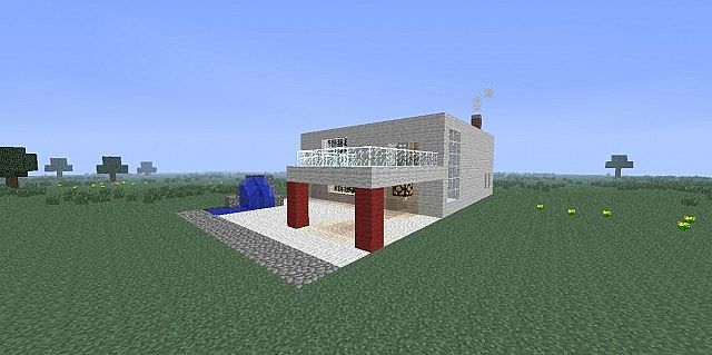 Modern house v1 1 casa moderna minecraft project for Casa moderna minecraft 0 11 1
