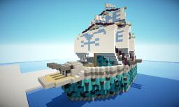 One Piece Marine Battleship Sailing ship Minecraft Map & Project