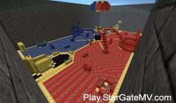 Play.CraftyCreeper.com PaintBall Arena Minecraft Map & Project