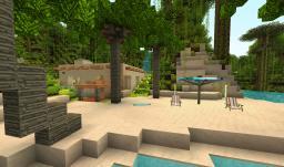 Beachfront Tropical Hacienda [1.8] Minecraft Map & Project