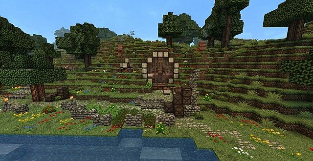 Hobbithole Start Of Hobbit Village Minecraft Project