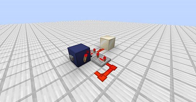 minecraft how to make a button act like a lever