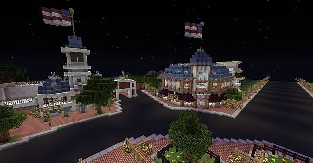 Shot of the yet-unfinished lower-left quarter of the Main Street U.S.A. circle.