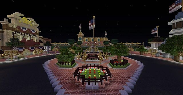 View of Main Street U.S.A. so far from across the island.