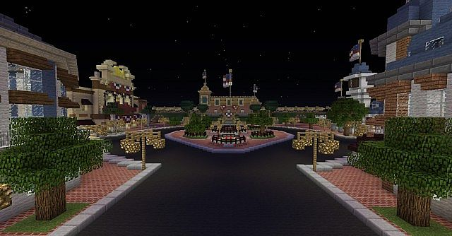 A shot of the entire Main Street U.S.A. circle.