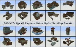 JelleMC's Age Of Empires Asian Styled Building Bundle (Schematics Included) Minecraft Map & Project