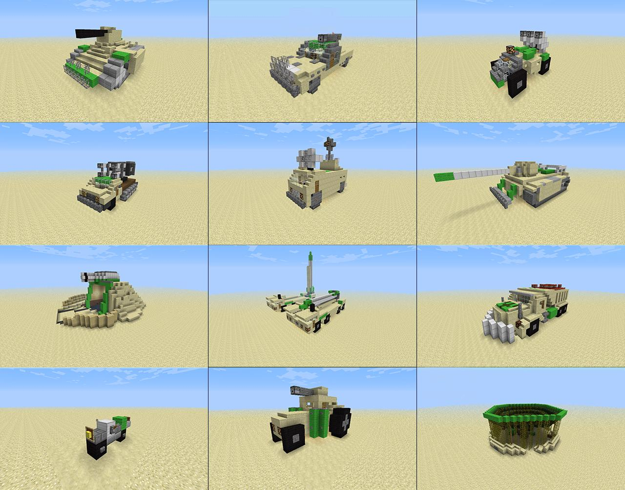 Minecraft vehicles desert army vehicles minecraft project