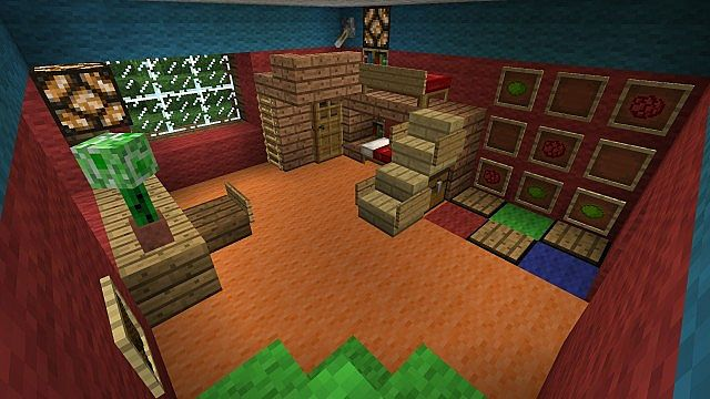 Kinderzimmer child 39 s room minecraft project for Minecraft kinderzimmer