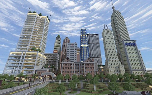 Liberty craft city minecraft project - Minecraft hochhaus ...