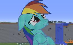 Rainbow Dash Pouting Minecraft Map & Project