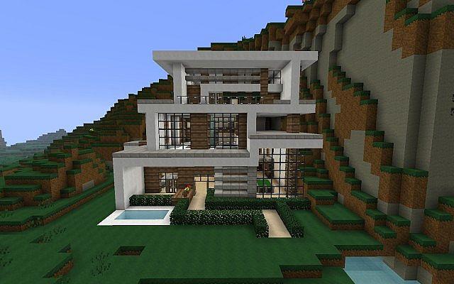 Cascade modern home contemp inc minecraft project for Cascade house