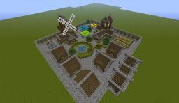 Small Medieval Town + download Minecraft Map & Project