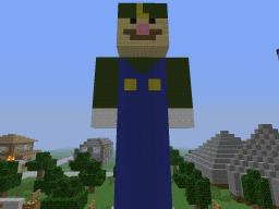 Luigi Pixel Art Minecraft Map & Project